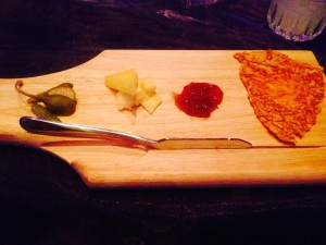 London - Duo of English cheese: accompanied by cornichons, caper berries, toasted