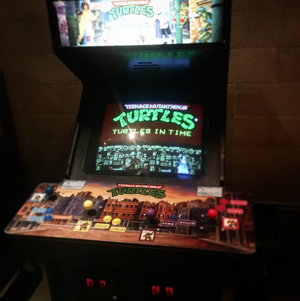 The classic Teenage Mutant Ninja Turtles arcade game at EightyTwo in DTLA