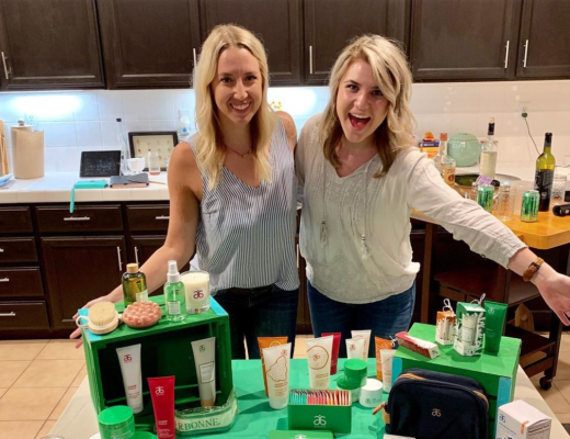 ladies hosting an arbonne mlm party
