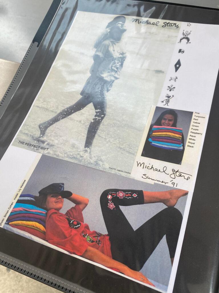 michael stars vintage ads